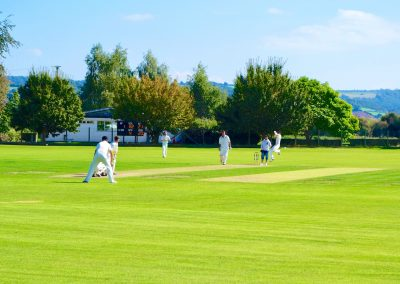 South Wales Hunts Cricket Club members playing a cricket match