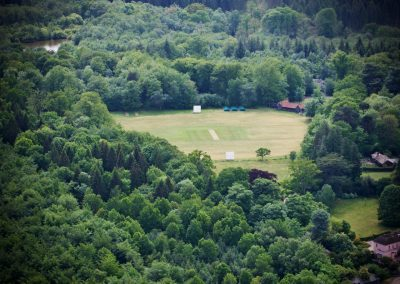 South Wales Hunts Cricket Club aerial shot